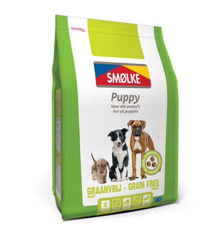 Productafbeelding voor 'Smolke - puppy graanvrij meerkleurig 12 kg'