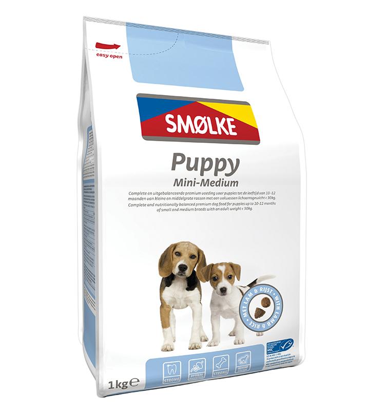 Productafbeelding voor 'Smolke - puppy mini/medium meerkleurig 1 kg'