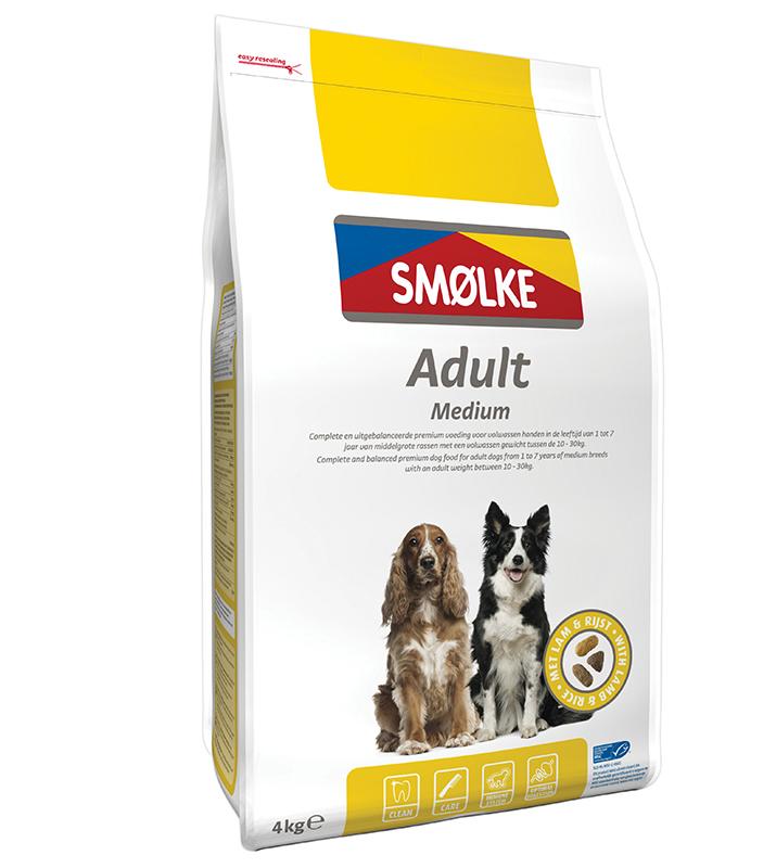 Productafbeelding voor 'Smolke - adult medium meerkleurig 4 kg'