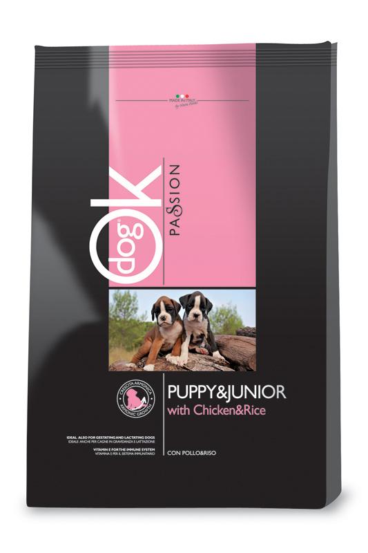 Ok passion - puppy hondenbrokken kip meerkleurig 12,5 kg