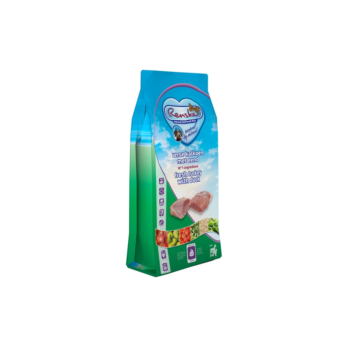 REN ADULT KALKOEN&EEND 600GR 00001