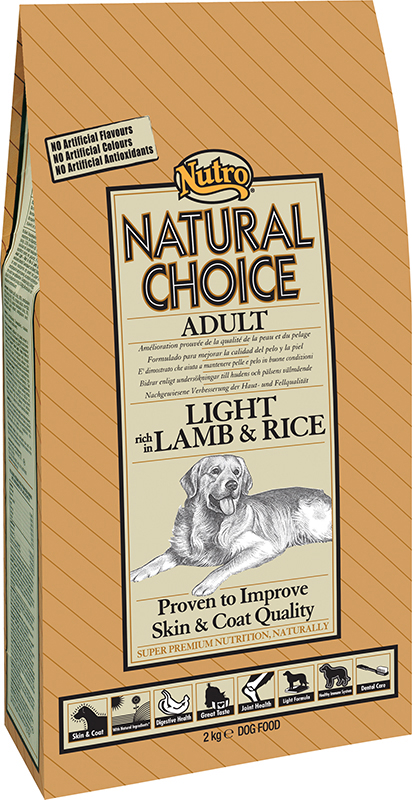 NU ADULT LIGHT RICE/LAMB 2KG 00002