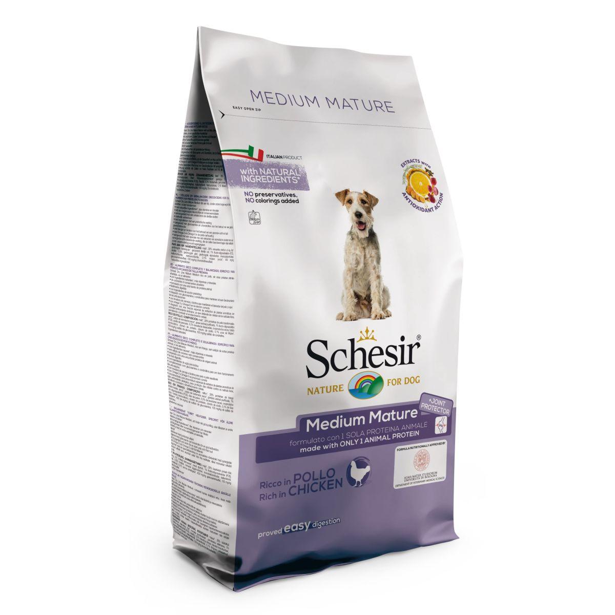 Productafbeelding voor 'Schesir - droogvoer medium senior meerkleurig 12 kg'