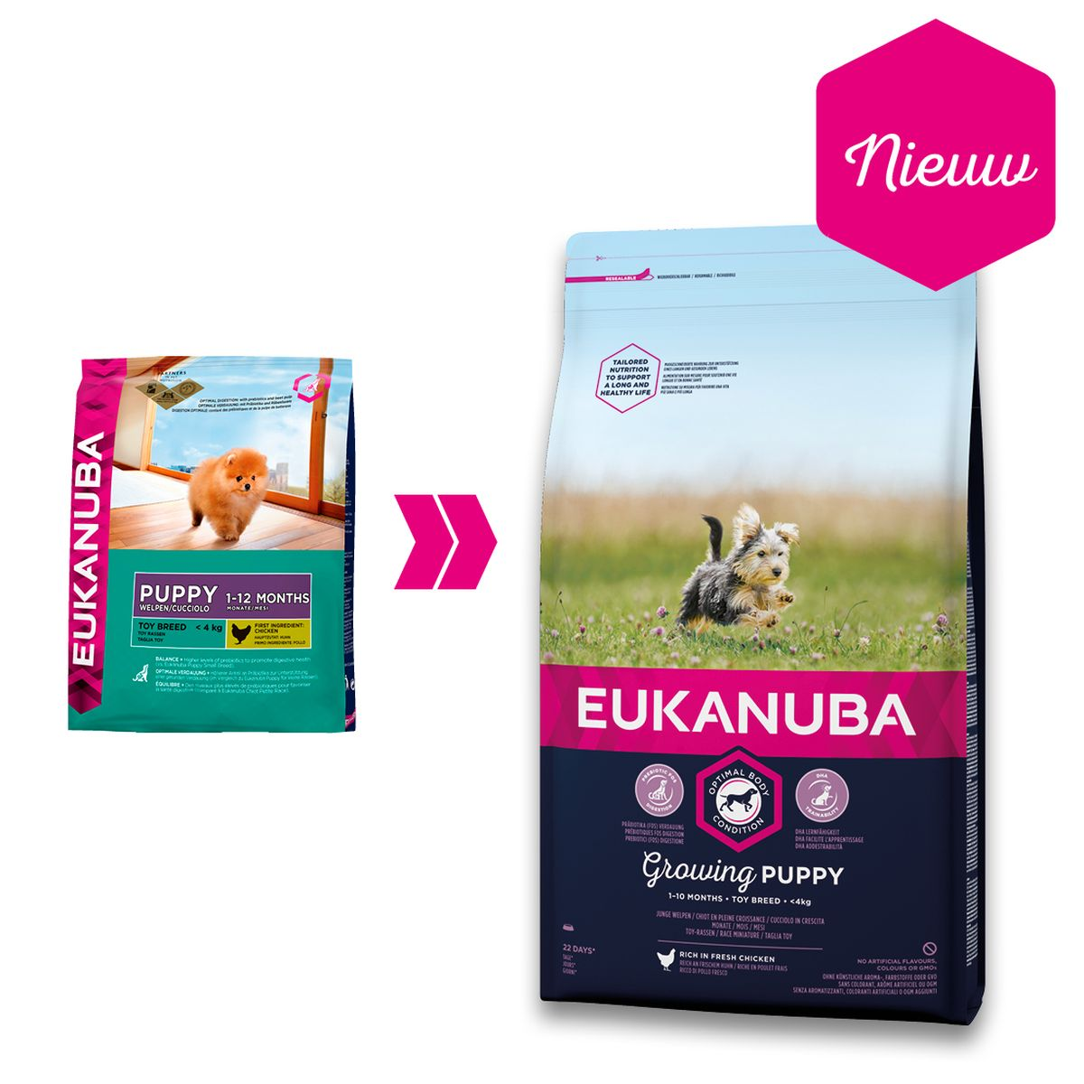 Eukanuba Growing Puppy Toy Breed Kip 2 kg Hondenvoer