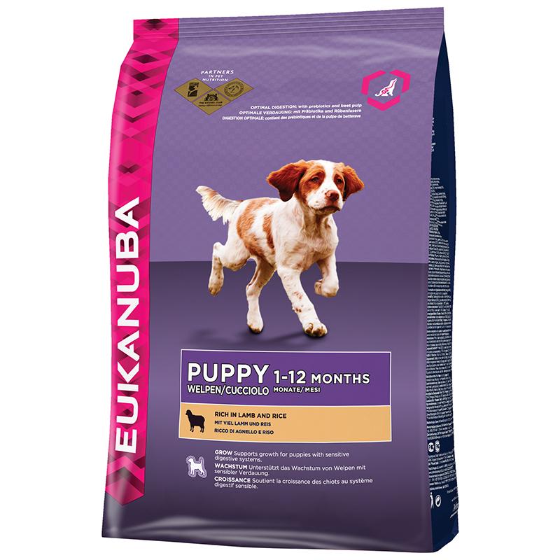 Eukanuba PuppyJunior lam met rijst Hondenvoer 2,50 kg