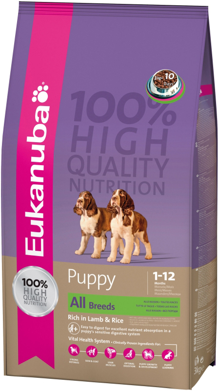 Productafbeelding voor 'EUK PUPPY AB LAMB&RICE 12KG 00001'