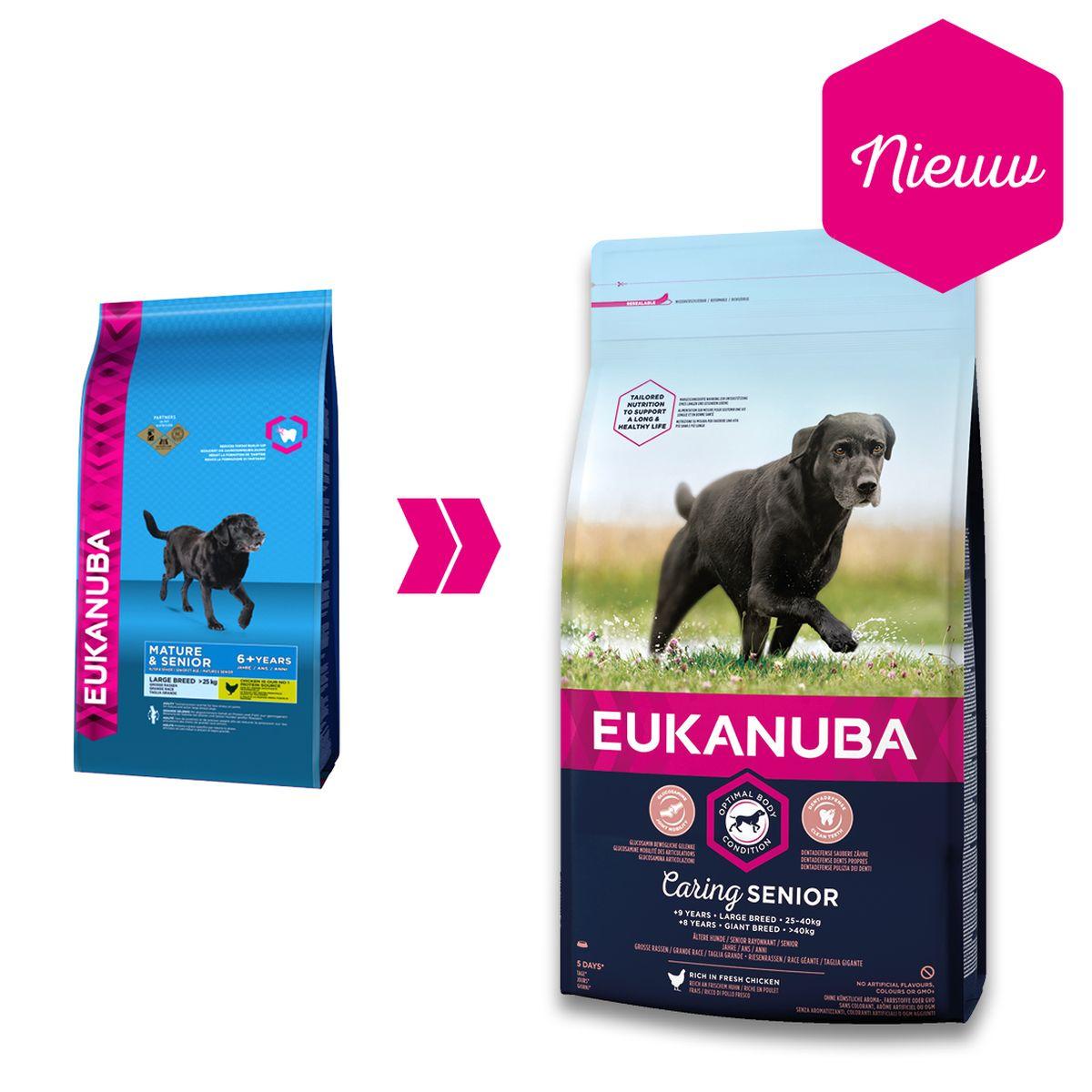 Eukanuba Caring Senior Large Breed Kip 3 kg Hondenvoer