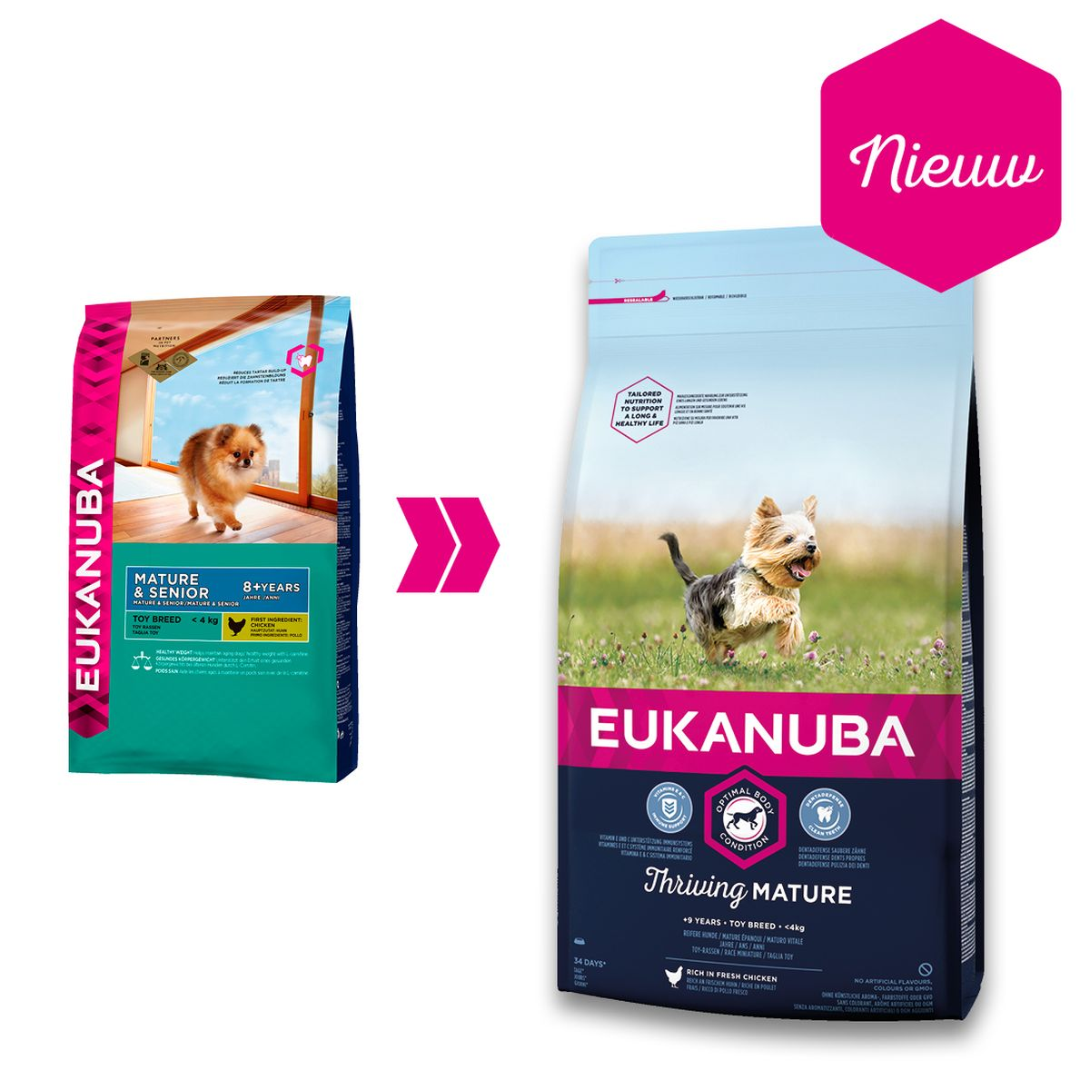 Eukanuba Thriving Mature Toy Breed Kip 2 kg Hondenvoer