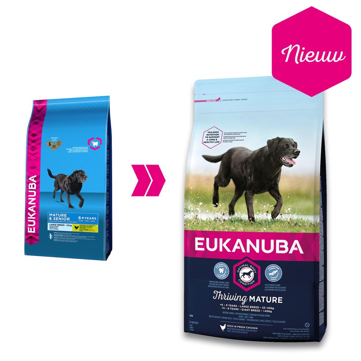 Eukanuba - mature/senior large breed meerkleurig 12 kg