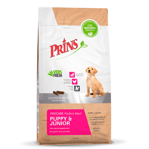 Prins - procare puppy/junior optistart meerkleurig 7,5 kg