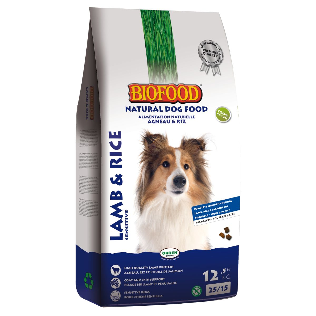 BF HOND LAM & RIJST 12,5KG 00001
