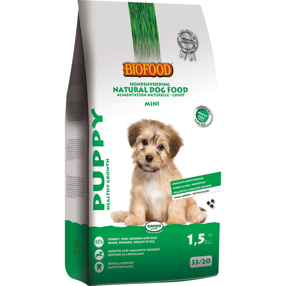 Biofood Puppy Small Breed hondenvoer 1.5 kg