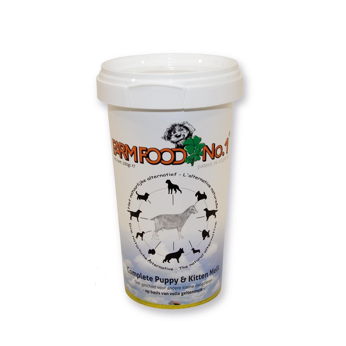 Afbeelding Farm Food puppy en kitten melk 100 gram door Dierspecialist.nl