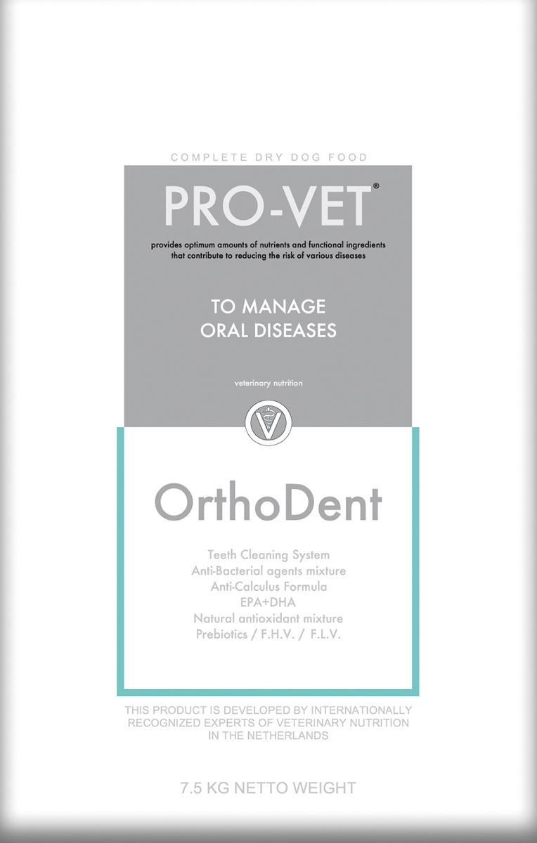 Pro-vet - orthodent (l) meerkleurig 7,5 kg