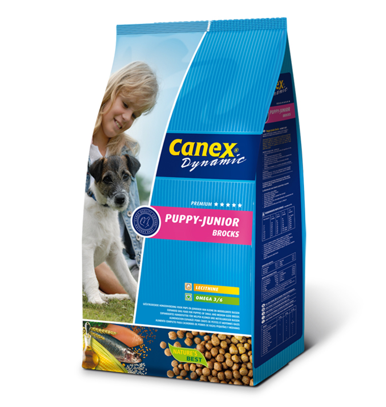 Productafbeelding voor 'Canex - dynamic puppy junior brocks meerkleurig 3 kg'