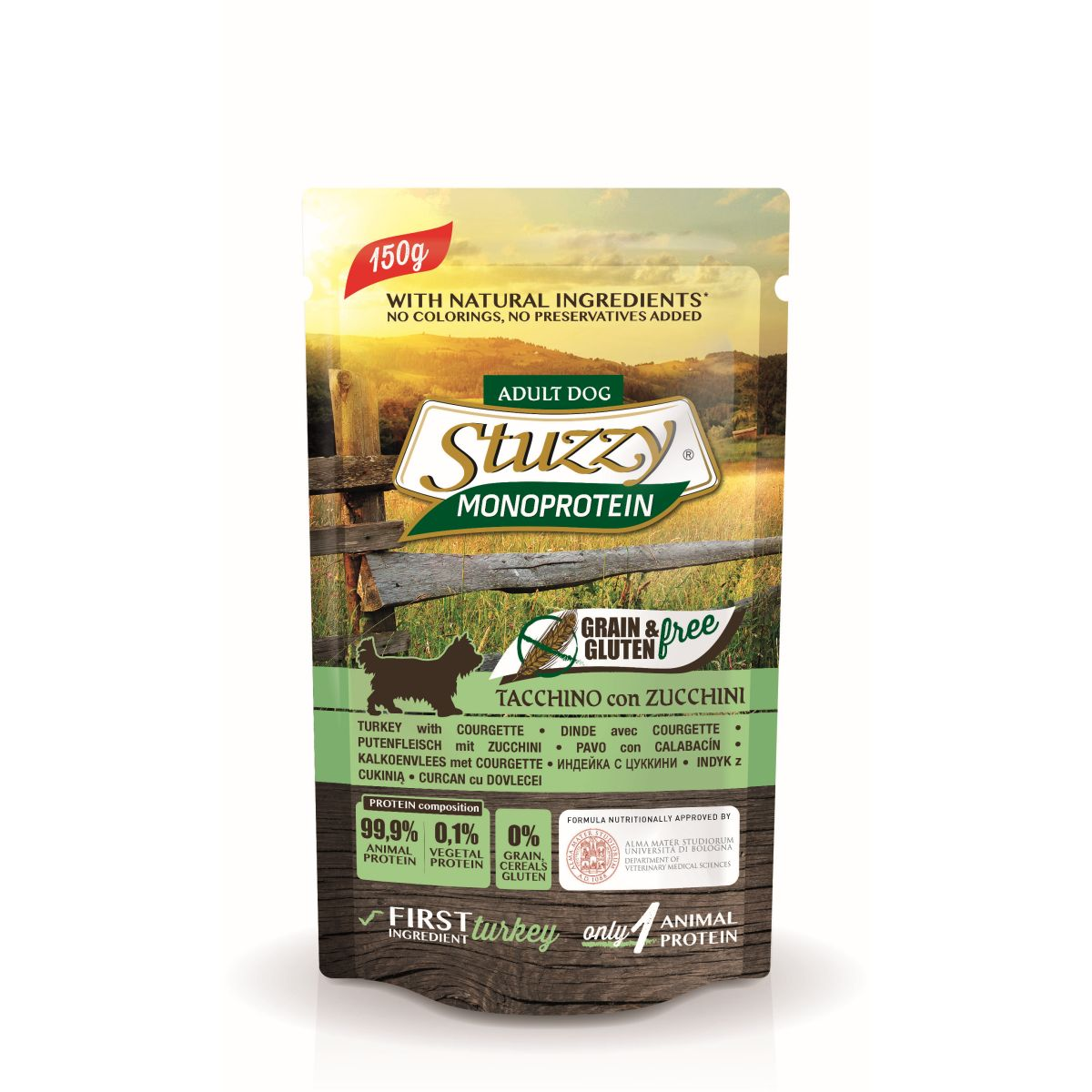 STU DOG POUCH GF. TURKEY 150GR 00001