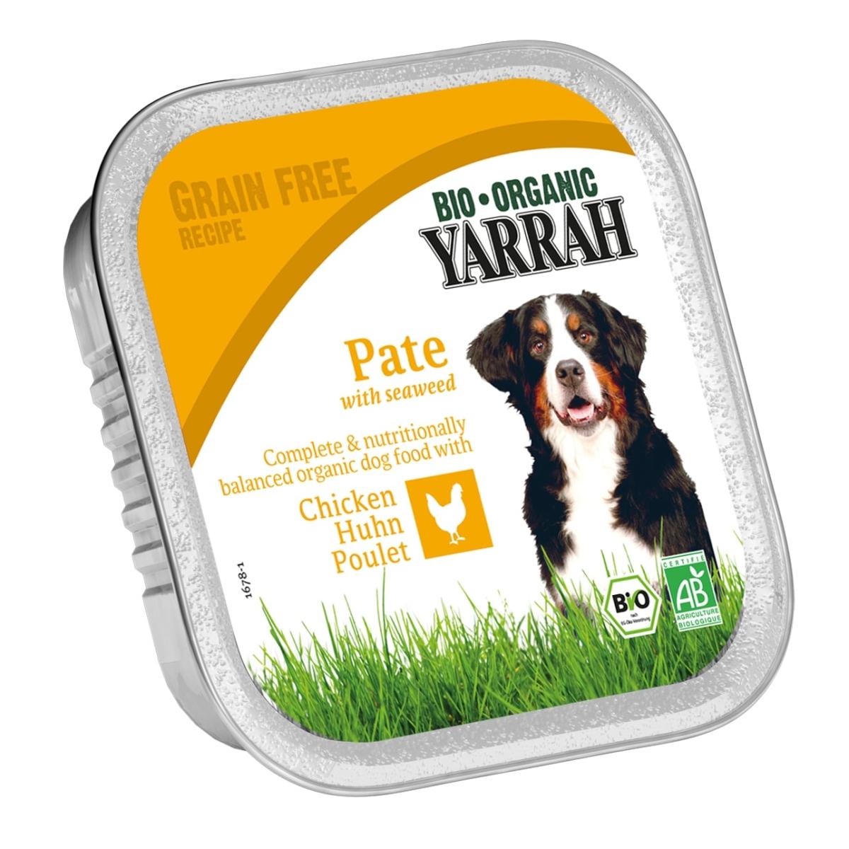 Yarrah 150 gr dog kuipje welness pate kip-zeewier