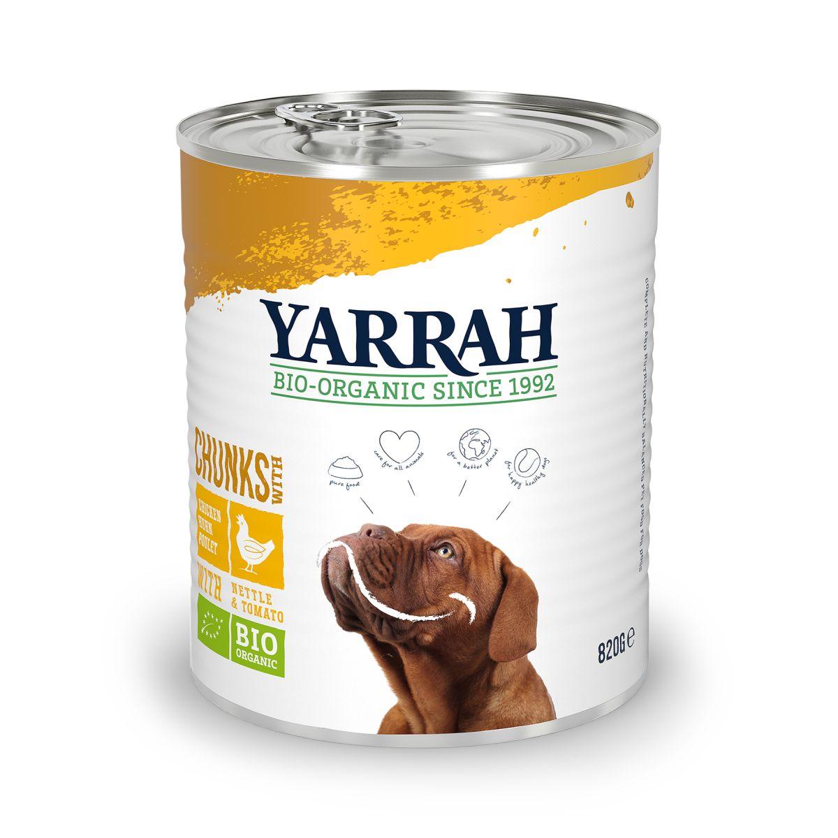 Yarrah - biologische brokjes in saus kip meerkleurig 820 gr
