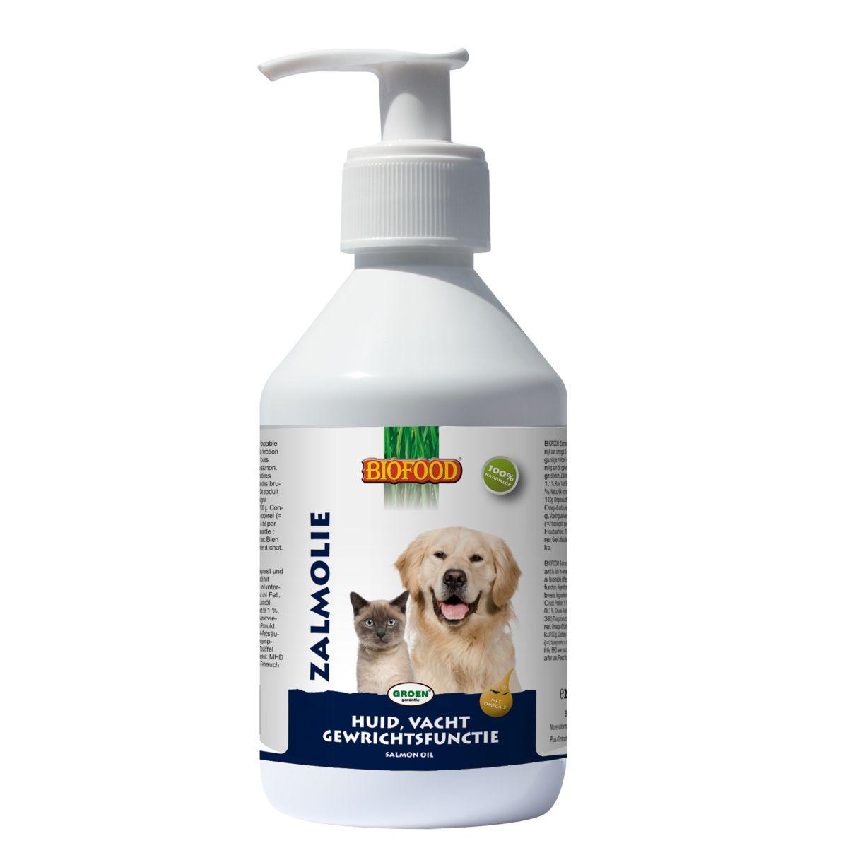 Productafbeelding voor 'Zalmolie met doseerpomp meerkleurig 250 ml'
