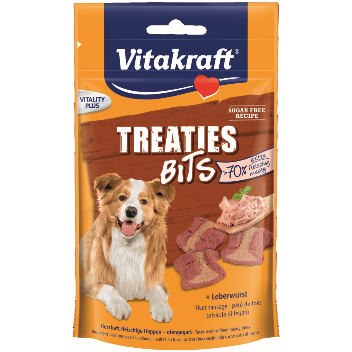 Vitakraft Treaties Bits hondensnack Leverworst