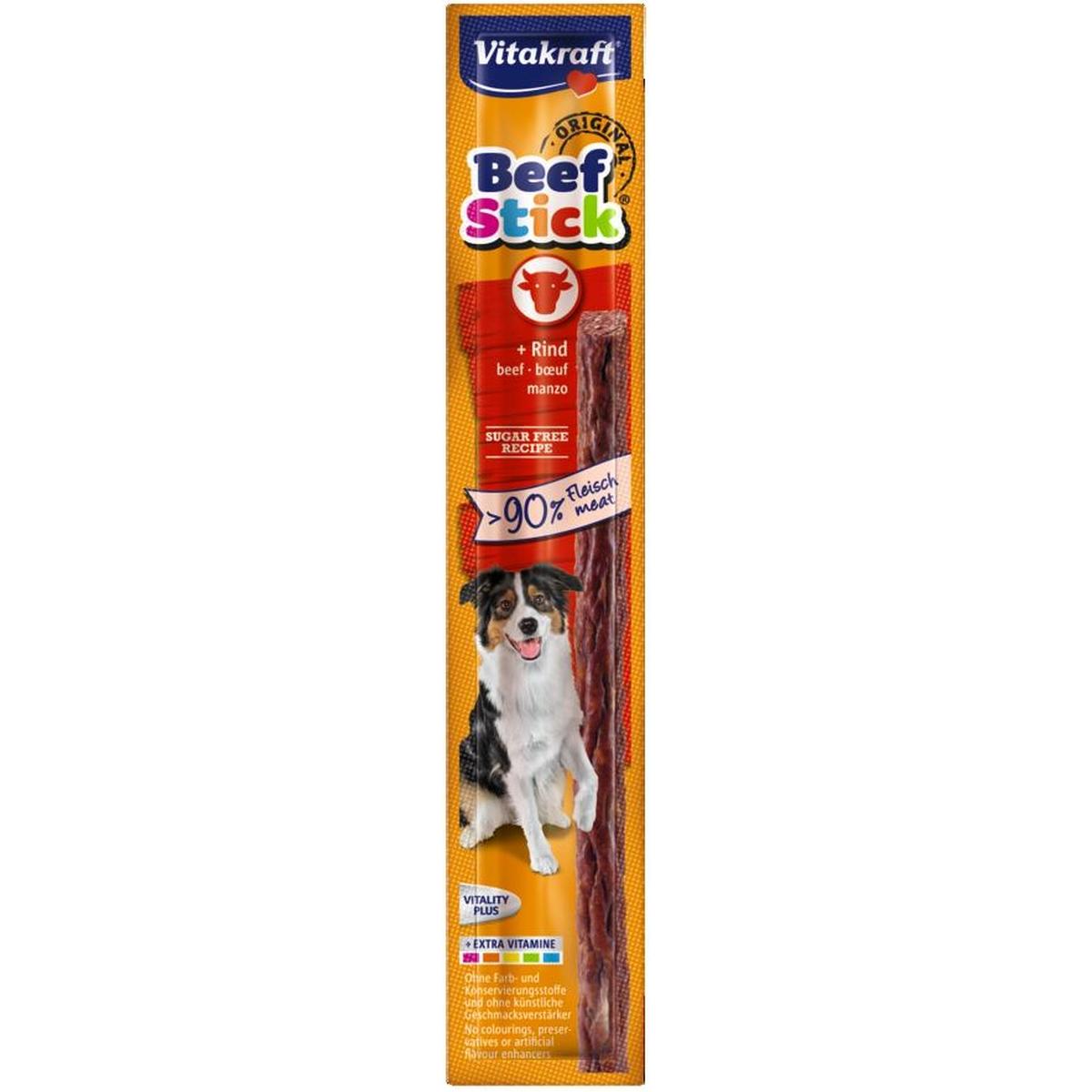Vitakraft - beefstick rund meerkleurig 15 gr
