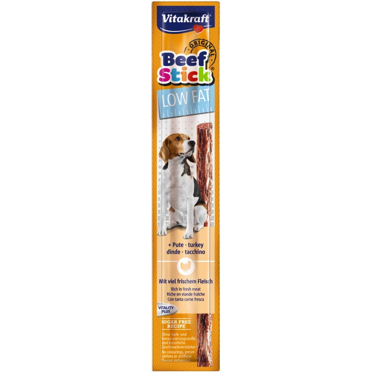 Beefstick low fat meerkleurig 12 gr