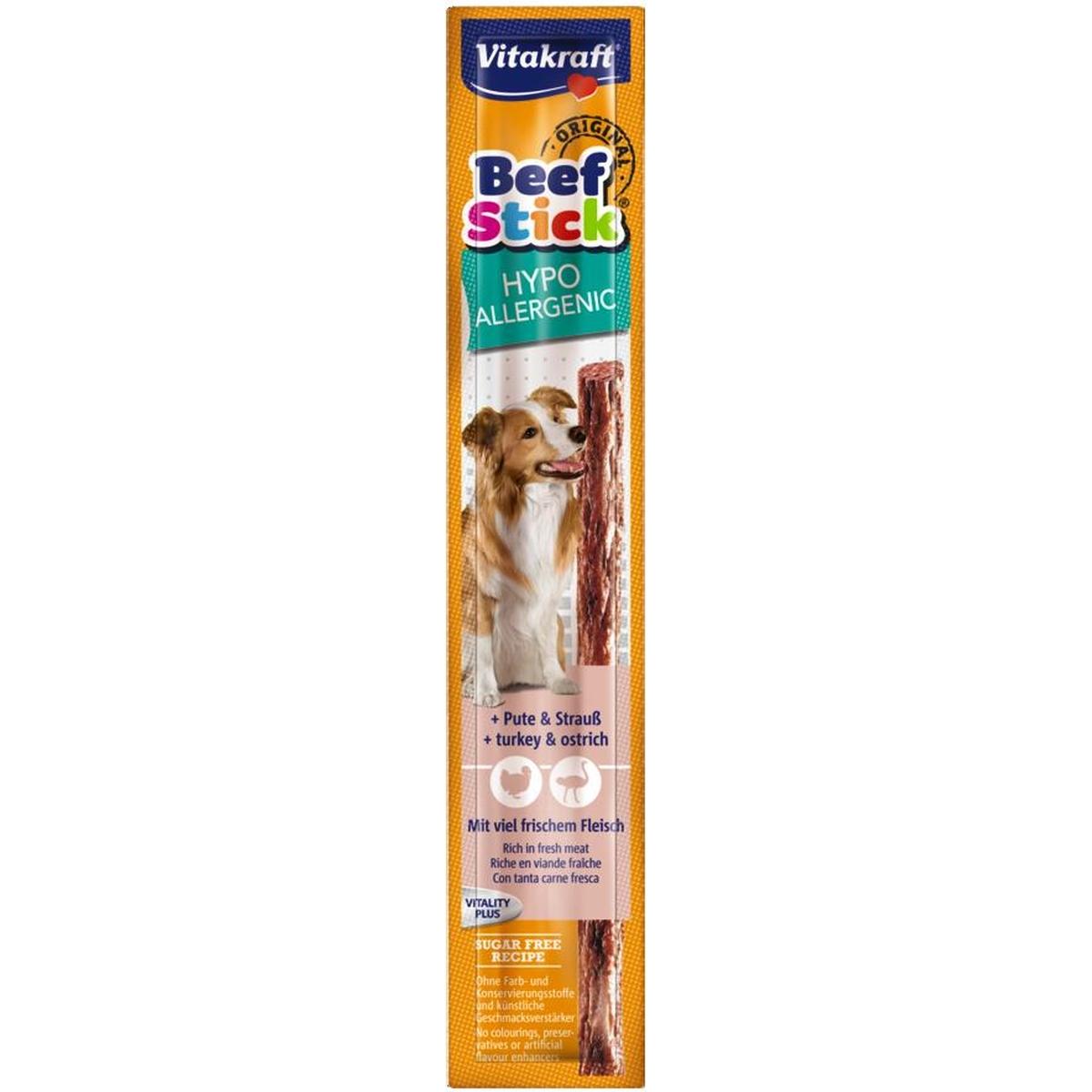 Beefstick hypoallergenic meerkleurig 12 gr