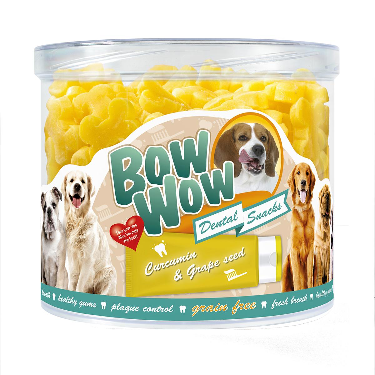 Productafbeelding voor 'Bow wow - graanvrije dental bones meerkleurig 1,2 kg'