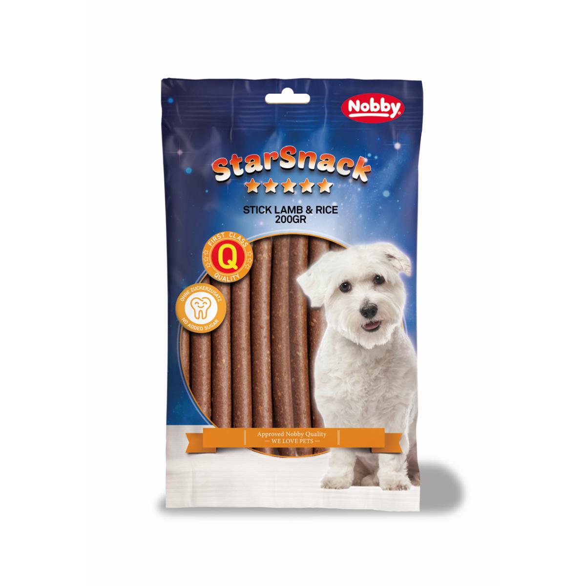 Nobby - starsnack stickies meerkleurig 200 gr