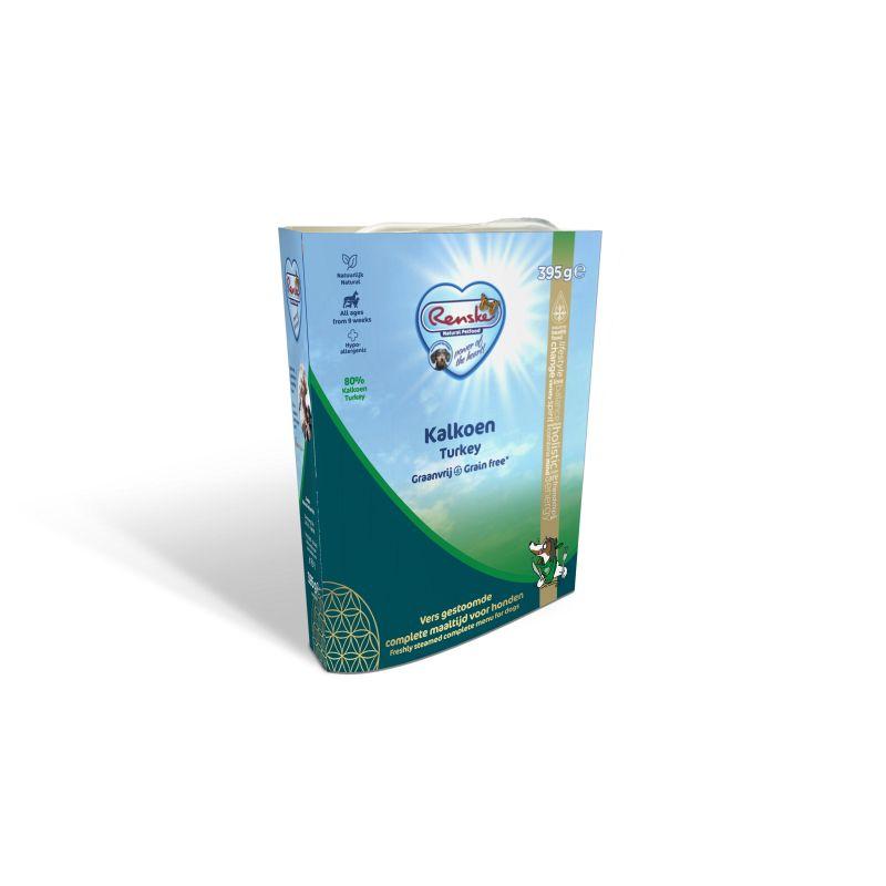 Afbeelding Renske Vers Graanvrij 7+ Kalkoen hondenvoer 1 tray (10 x 395 gram)