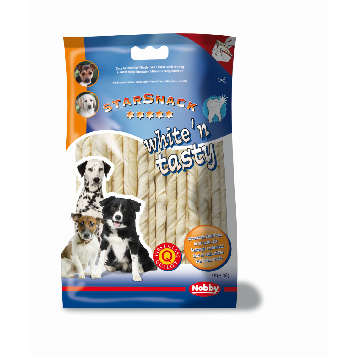 Starsnack white&tasty twist wit 165 gr