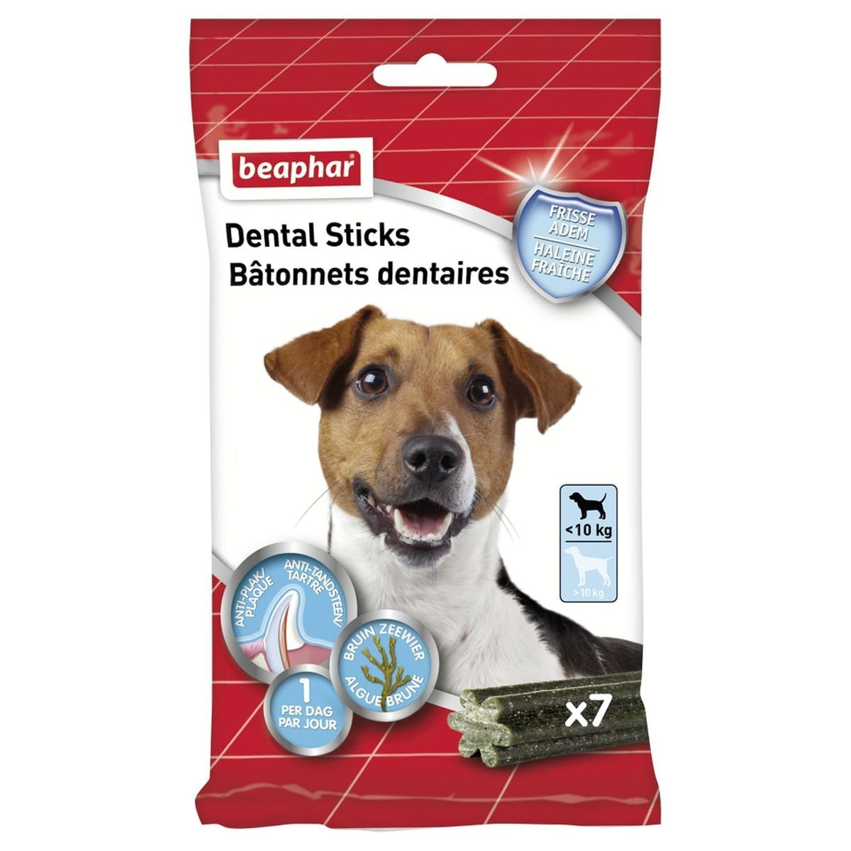 Beaphar Dental Sticks kleine hond 1 x 7 sticks