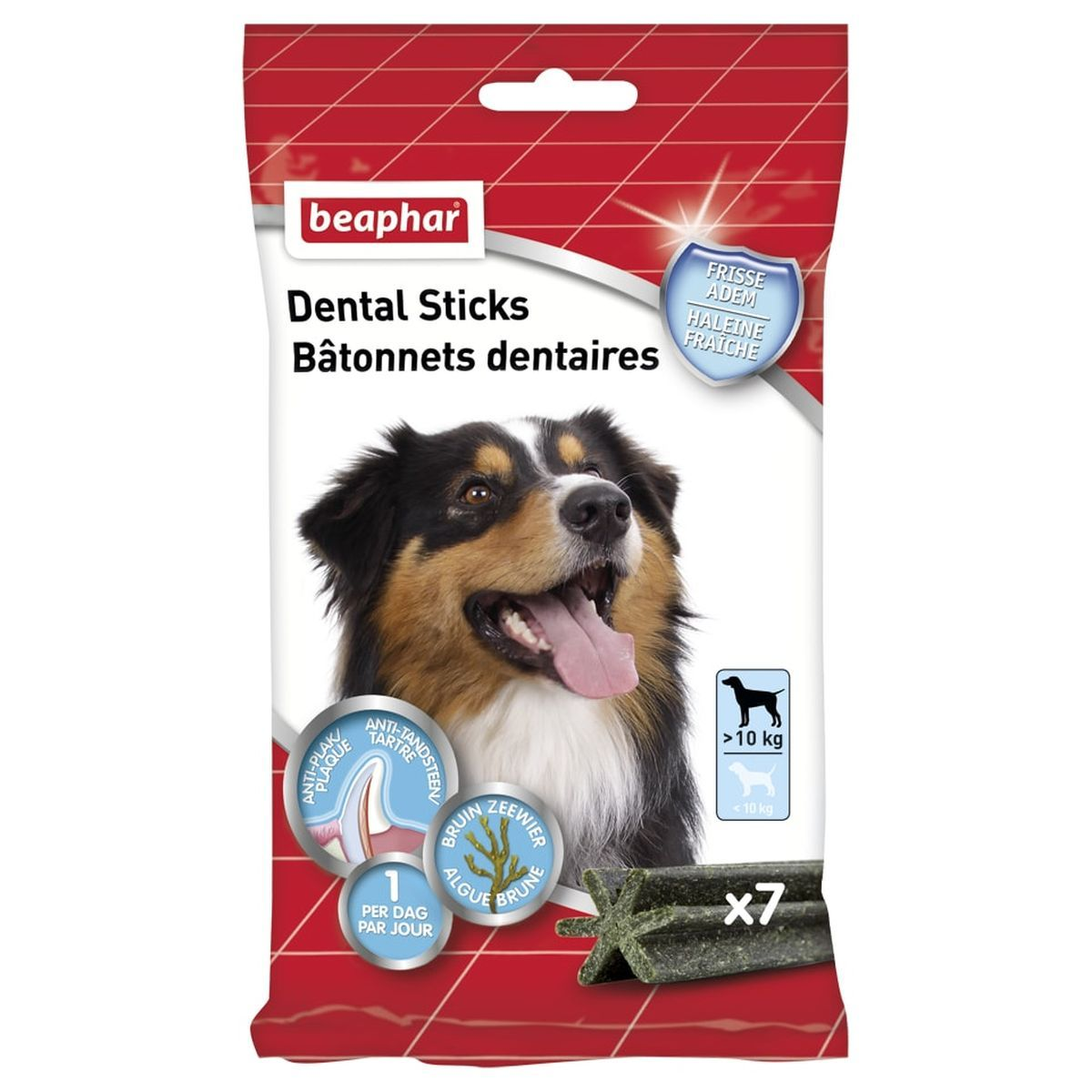 Beaphar Dental Sticks middel / grote hond 1 x 7 sticks