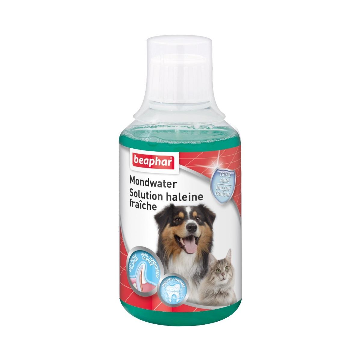 Mondwater voor de hond en kat groen 250 ml