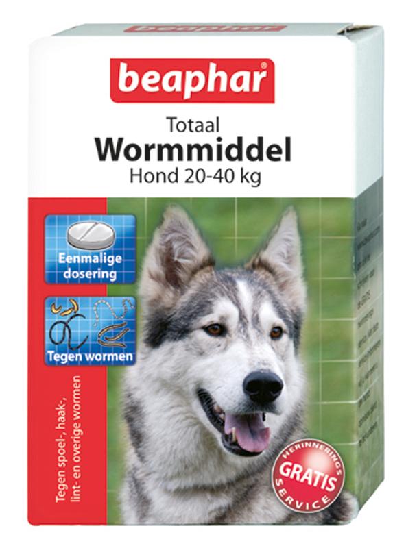 Beaphar - wormtabletten groot meerkleurig