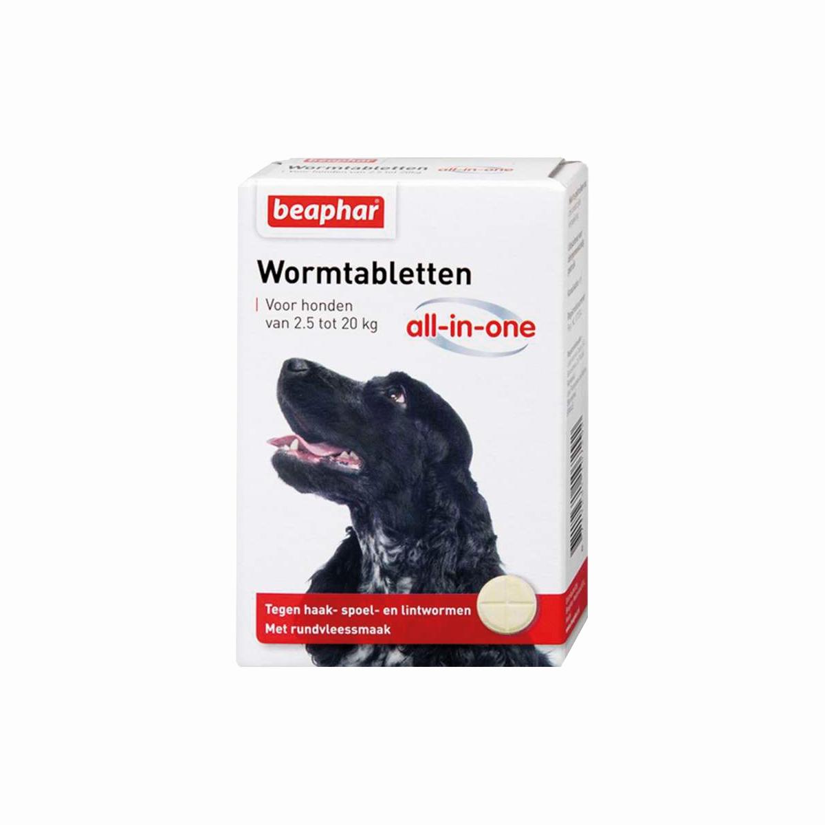 Beaphar Wormmiddel All-in-One (2,5 - 20 kg) hond 2 Tabletten