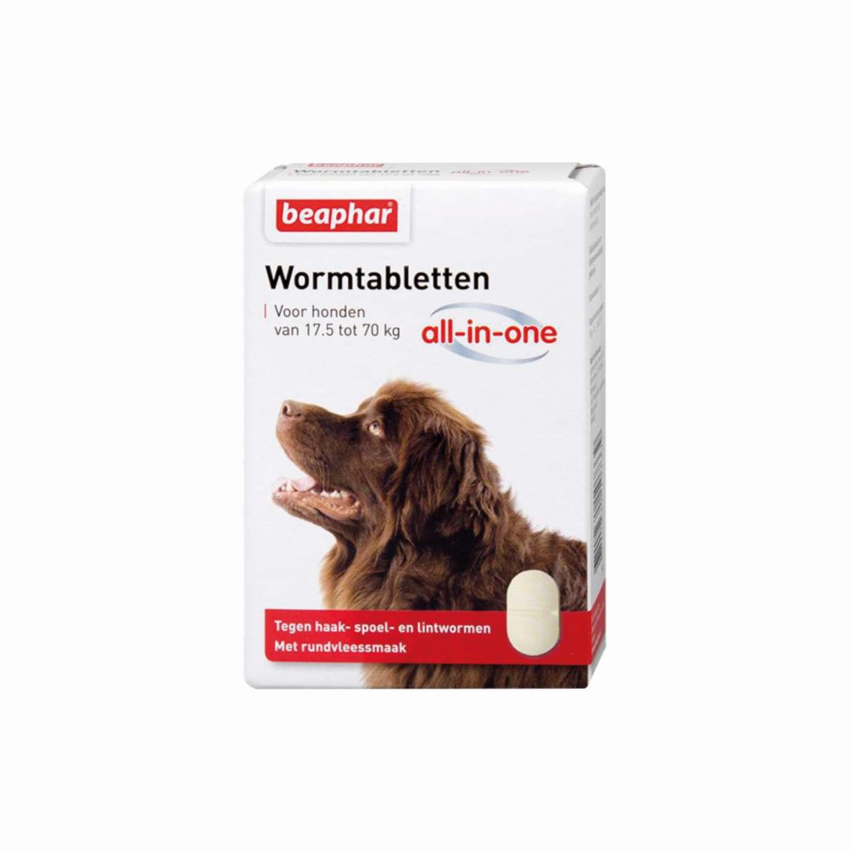 Beaphar Wormmiddel All-in-One (17,5 - 70 kg) hond 2 Tabletten