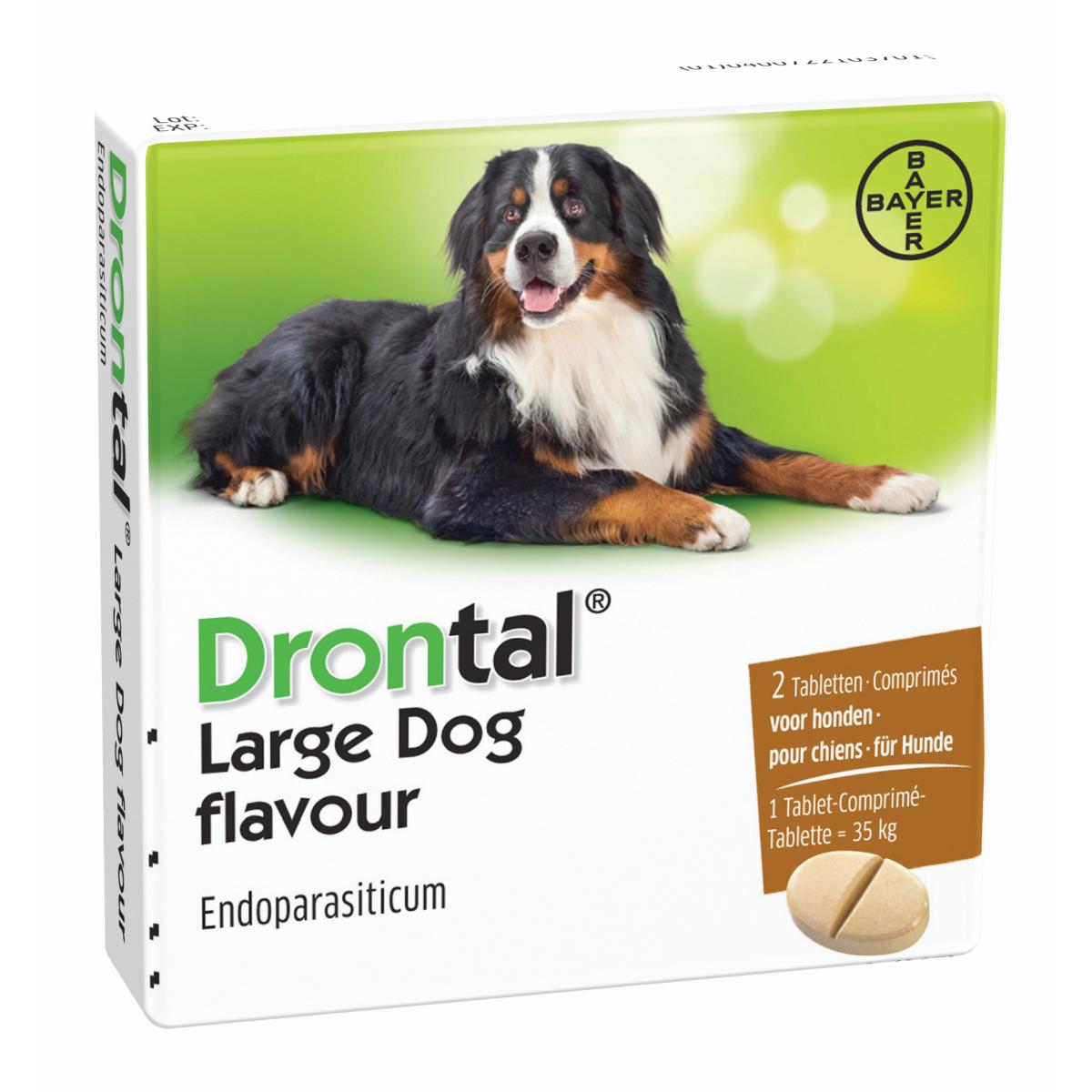 Drontal Large Dog Flavour ontwormingsmiddel 2 Tabletten