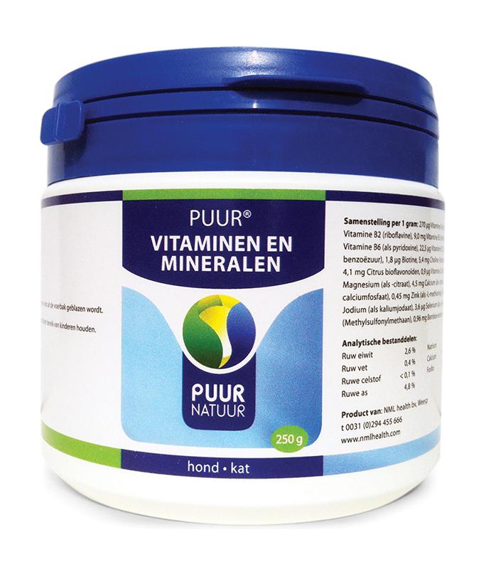 Vitaminen en mineralen voor hond en kat wit 250 gr