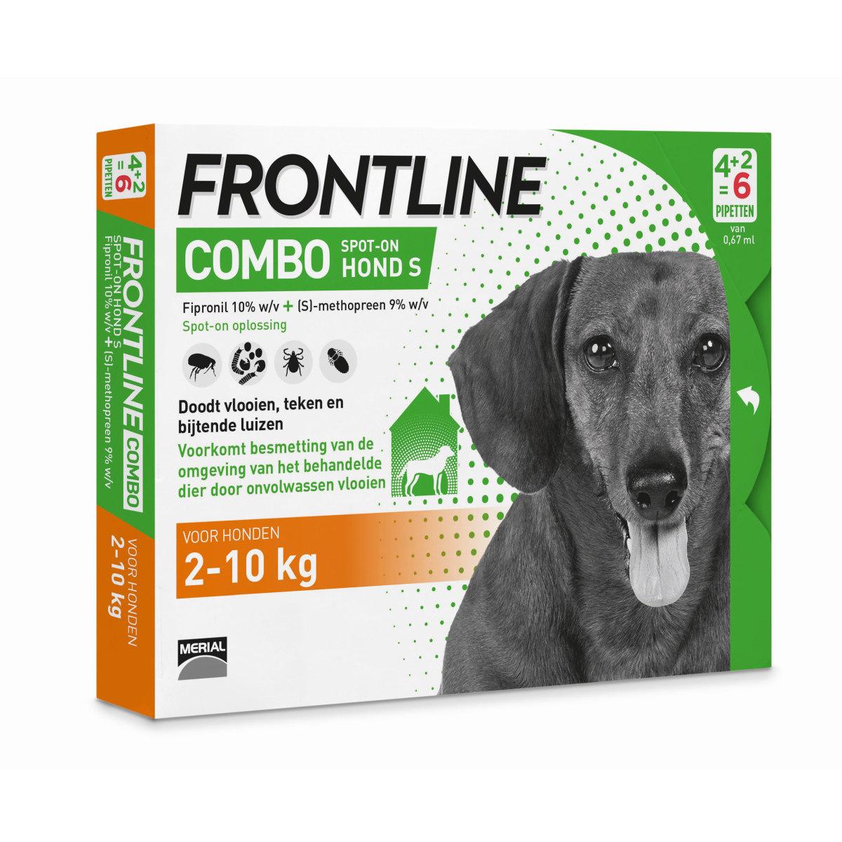 Productafbeelding voor 'Frontline - combo hond meerkleurig 6 pipetten'
