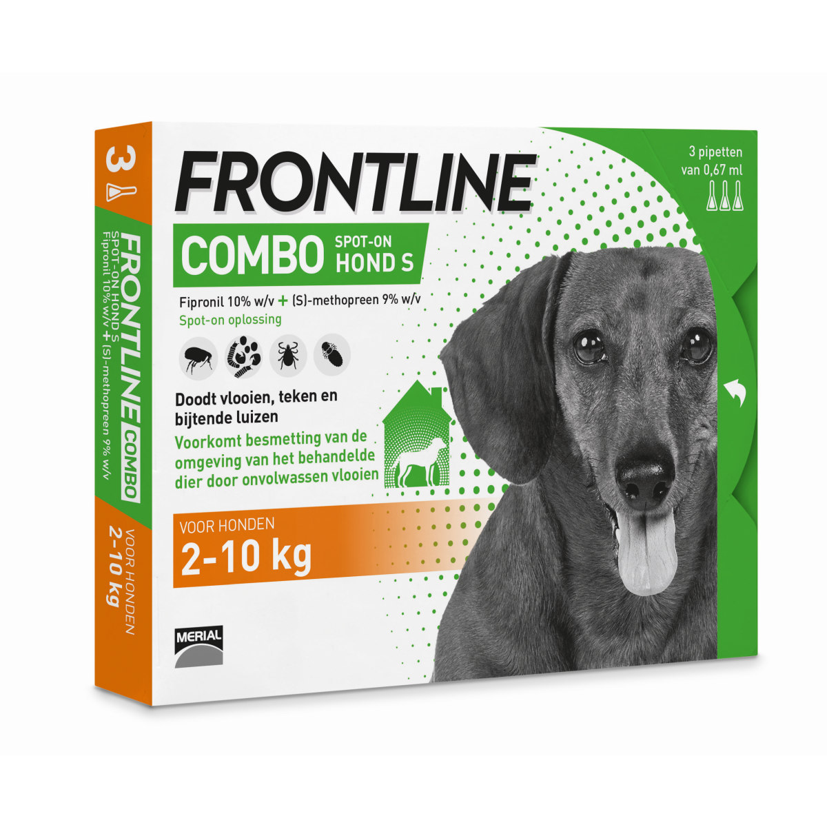 Productafbeelding voor 'Frontline - combo meerkleurig 3 pipetten'