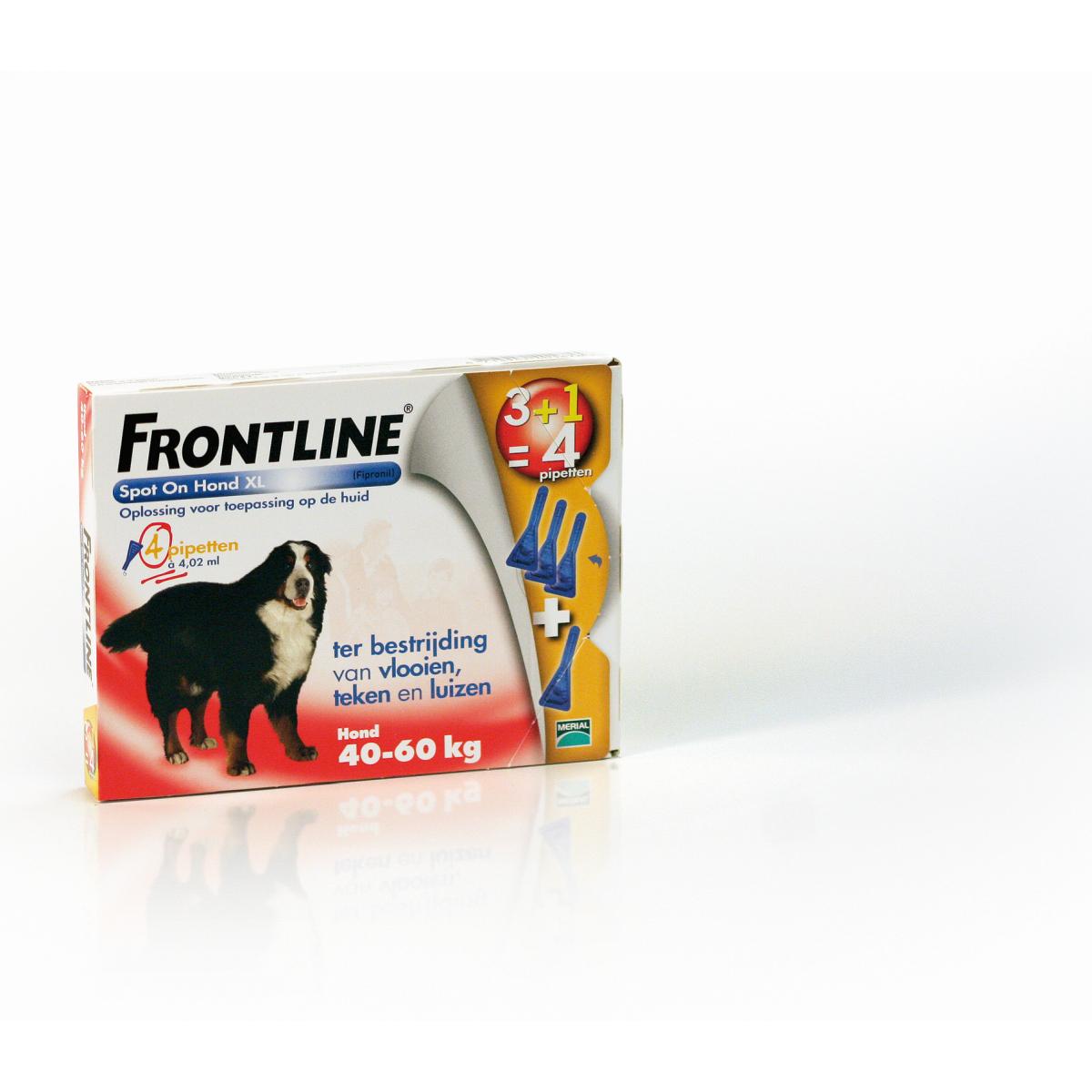 Productafbeelding voor 'Frontline - extra grote hond meerkleurig 4 pipetten'