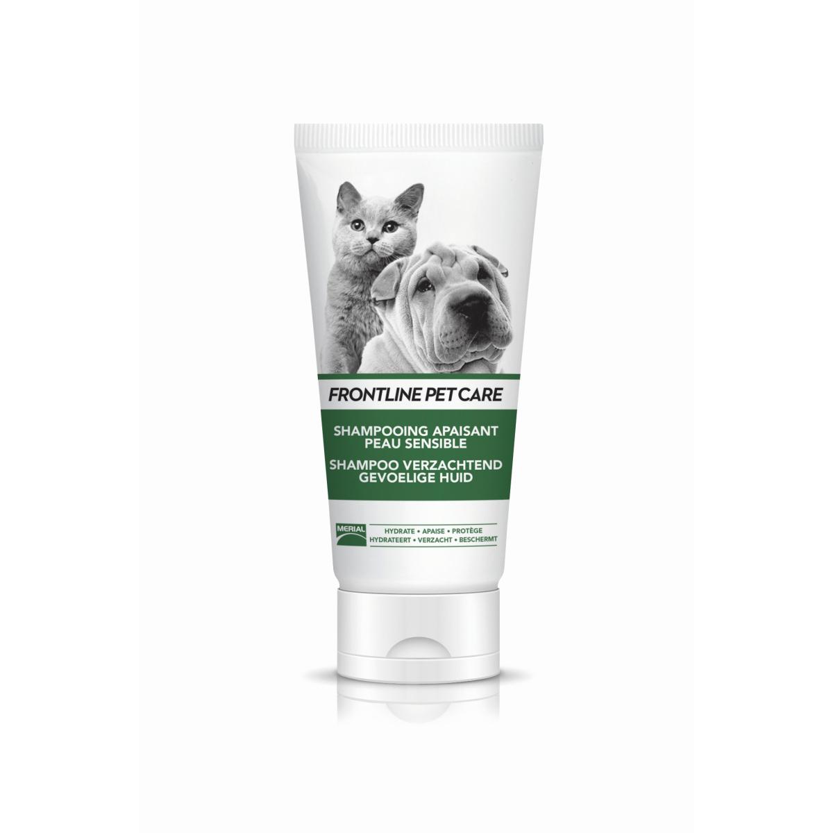 Pet care shampoo verzachtend gevoelige huid wit/groen 200 ml