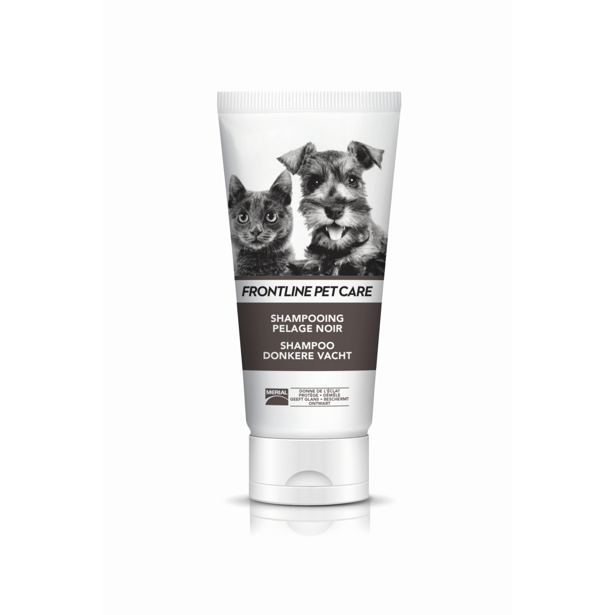 Productafbeelding voor 'Pet care shampoo donkere vacht wit/bruin 200 ml'