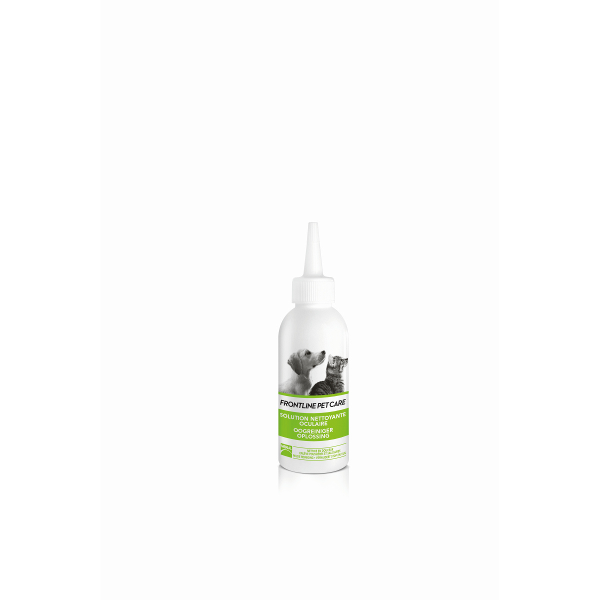 Pet care oogreiniger wit/groen 125 ml