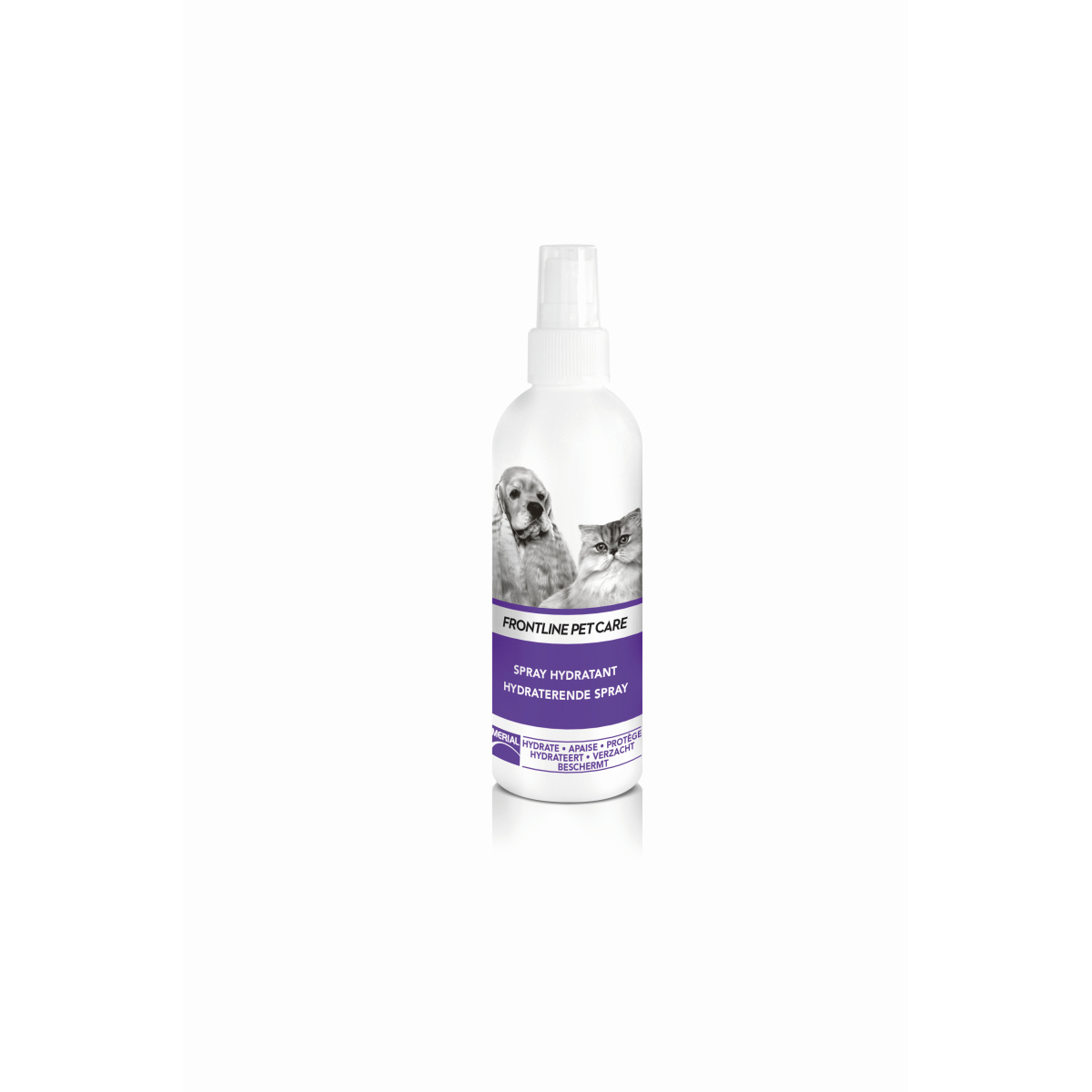 Pet care hydraterende spray wit/paars 150 ml