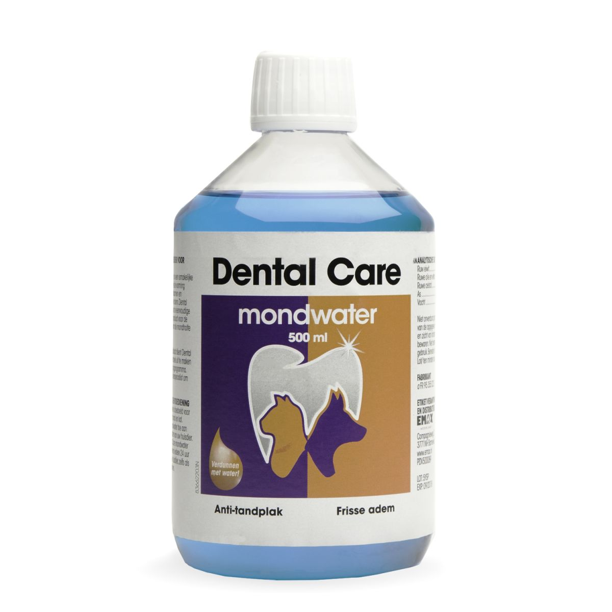 Productafbeelding voor 'EM DENTAL CARE MONDWATER 500ML 00001'