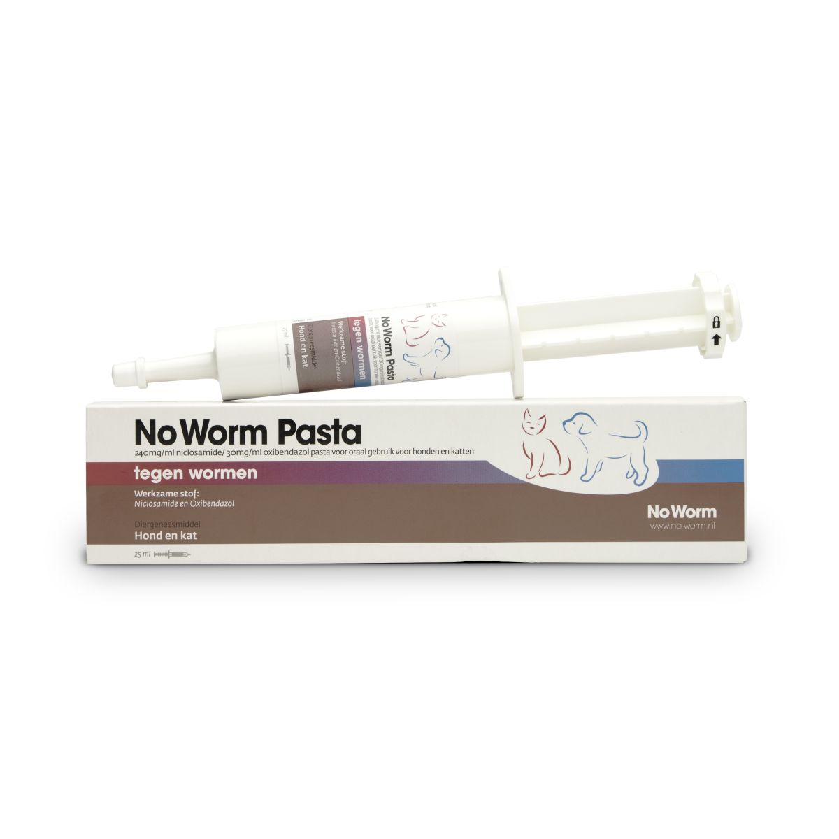 No worm pasta 25ml meerkleurig 25 ml