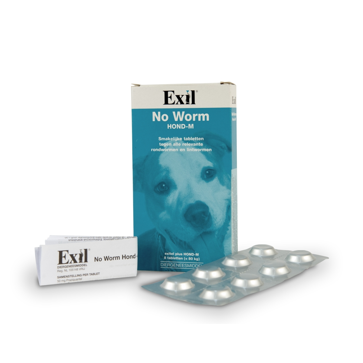 No worm - no worm exitel meerkleurig 8 tabl