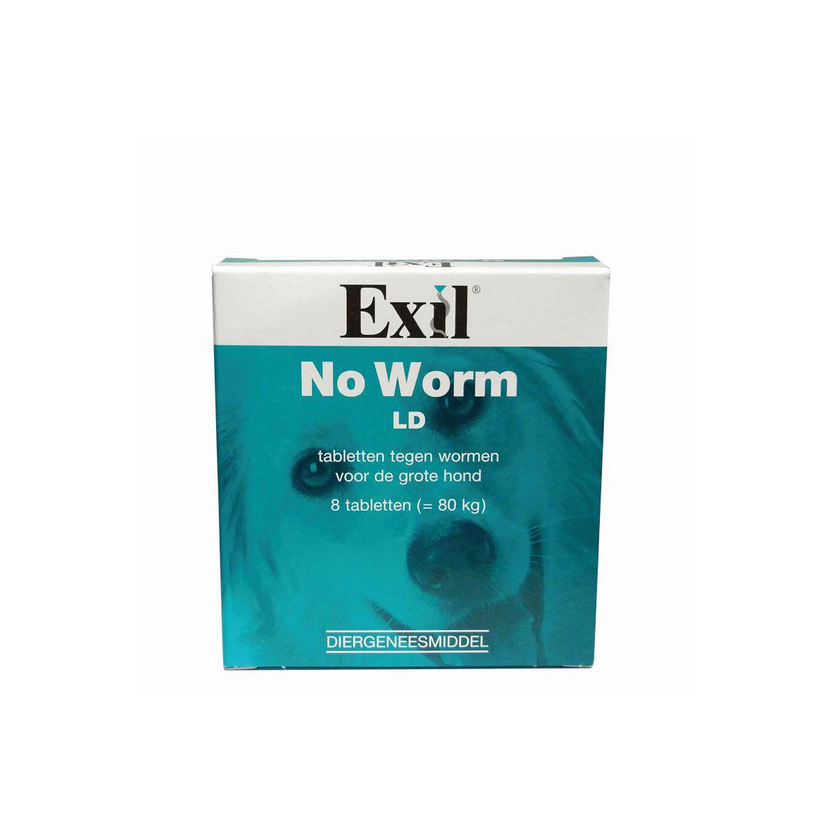 Productafbeelding voor 'No worm ld hond blauw 8 tabl'